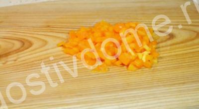 морковь кусочками