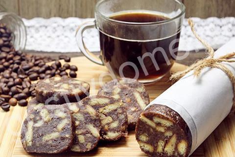 шоколадная колбаса фото