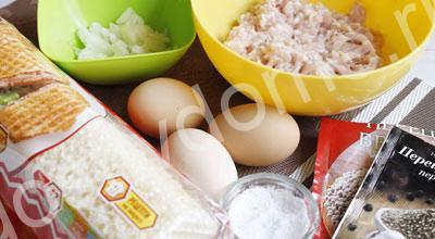 продукты для вафель с фаршем