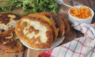 фото к рецепту пирожки с картошкой и печенкой жареные