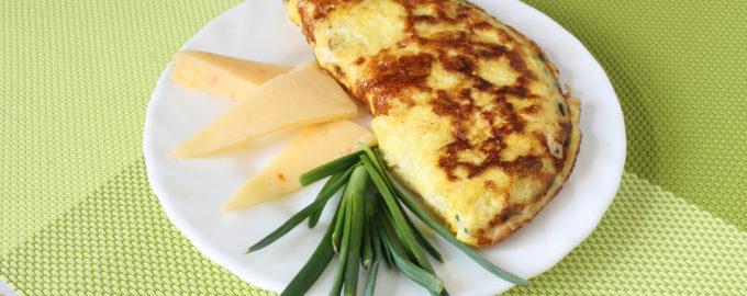 омлет с сыром и зеленью фото