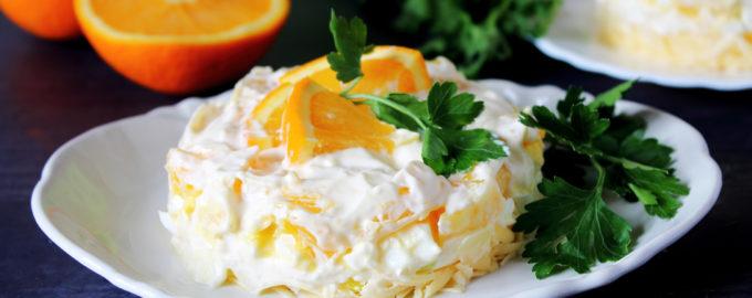 салат с апельсином фото