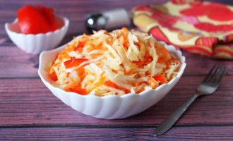 салат из капусты с болгарским перцем и морковью