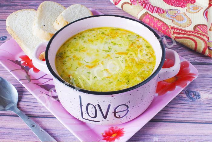 фото к рецепту сырный суп с курицей