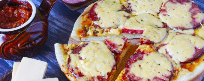 пицца на кефире в мультиварке