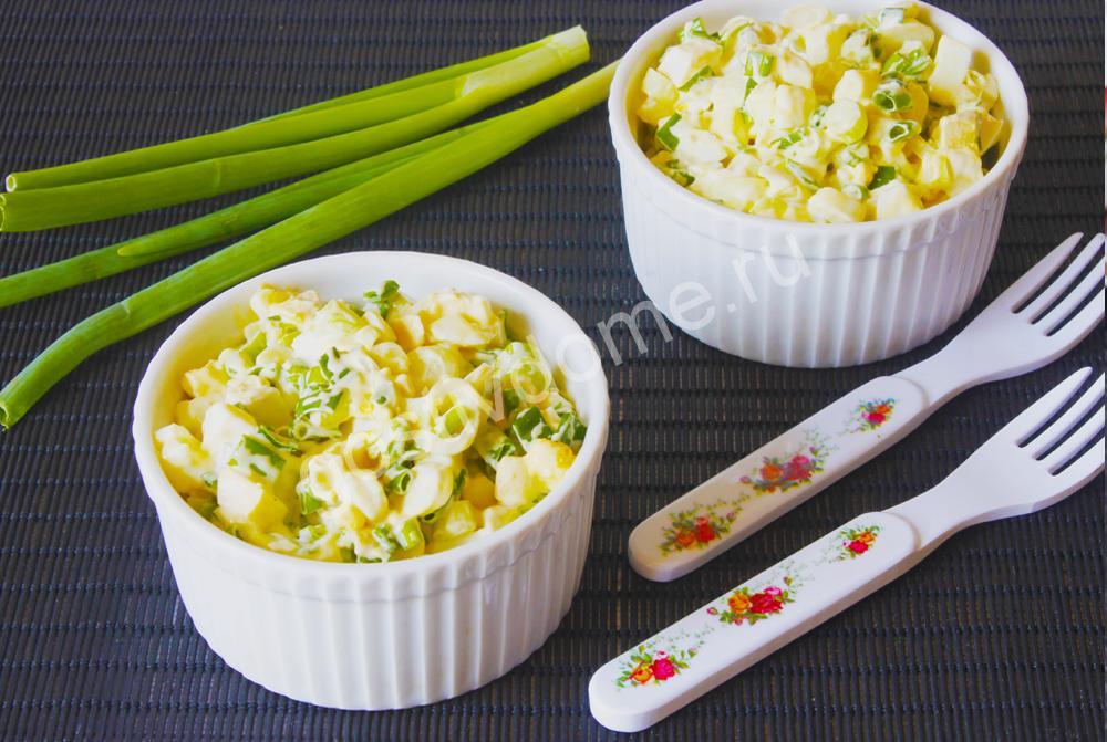 фото к рецепту салат с яйцом и зеленым луком