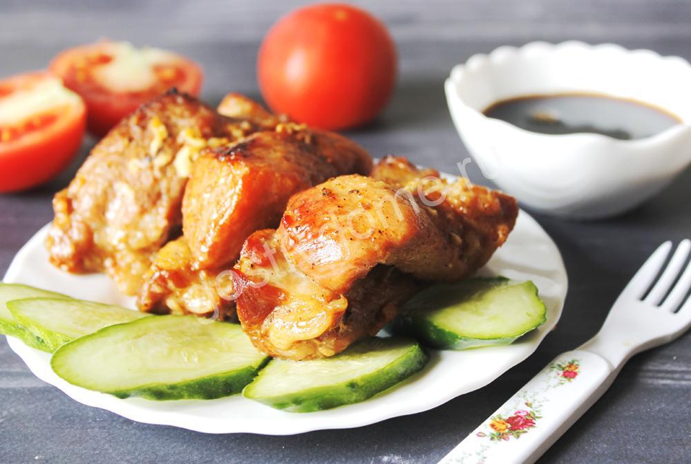 фот к рецепту свиные ребра в фольге с соевым соусом и медом